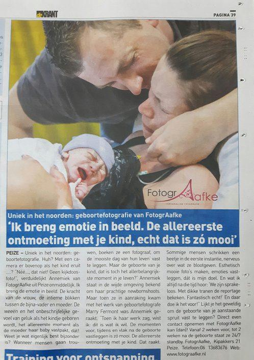 geboortefotografie De Krant