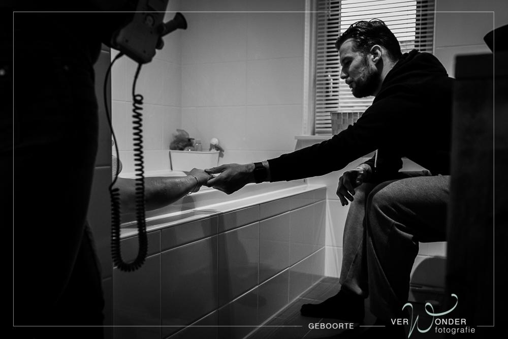 weten opvangen in bad